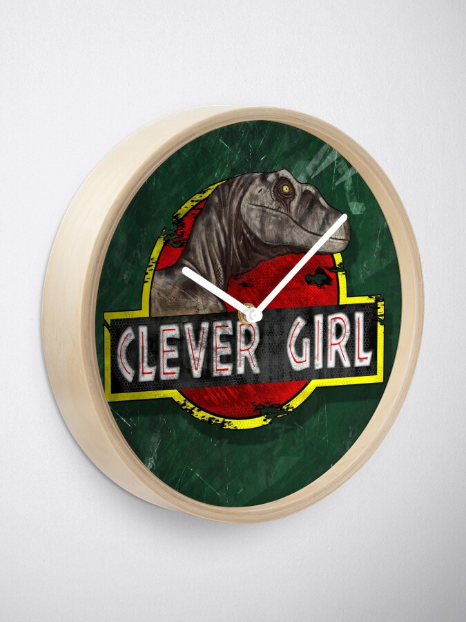Alternate view of Clever Girl Clock