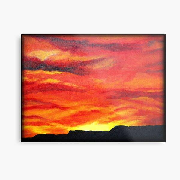 """Flaming Skies"" Metal Print"