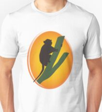 Silhouette of a Monkey Climbing a Tree  T-Shirt