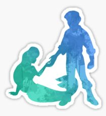 Mermaid and Prince Inspired Silhouette Sticker
