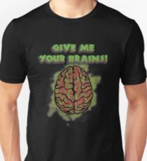 Zombie Teacher - Give me your brains - Funny School T-Shirt