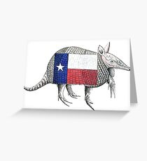 Texas Armadillo Greeting Card