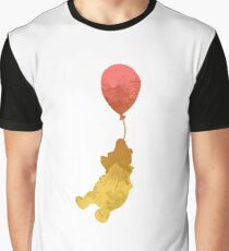 Bear and balloon Inspired Silhouette Graphic T-Shirt