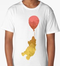 Bear and balloon Inspired Silhouette Long T-Shirt