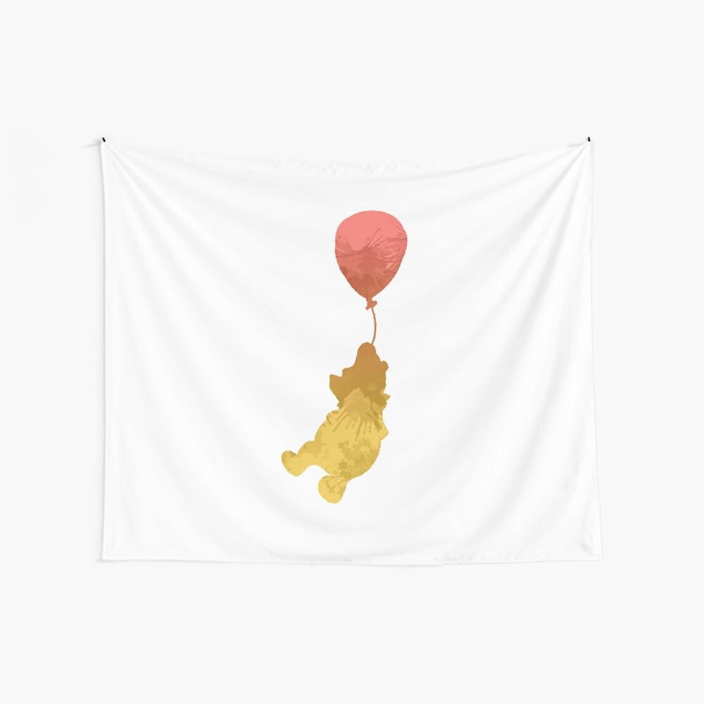 Bär und Ballon inspirierte Silhouette Wandbehang