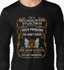 GEOGRAPHY TEACHER Long Sleeve T-Shirt