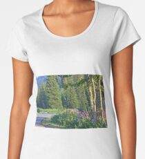 Out for a ride at Tony Grove,Utah Women's Premium T-Shirt