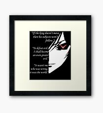 The Testamennt of Lelouch Vi Britannia Part 1 Framed Print