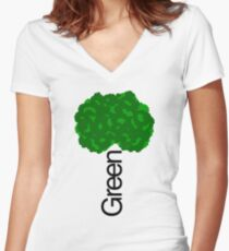 GREEN iii Women's Fitted V-Neck T-Shirt