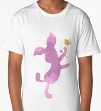 Pig with flower Inspired Silhouette Long T-Shirt