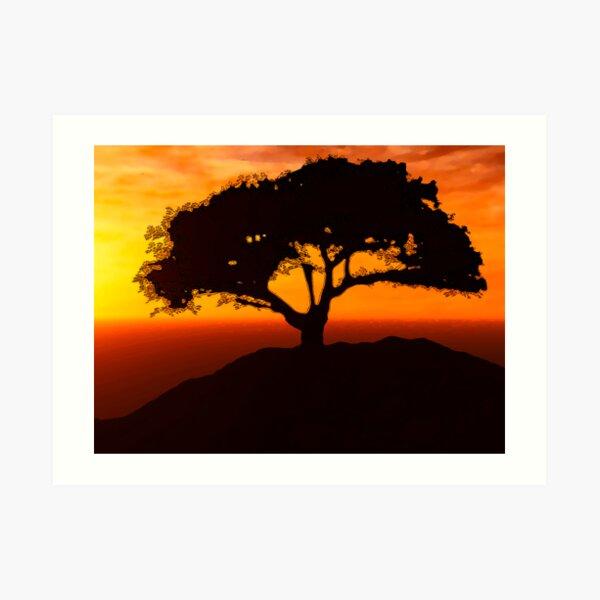 African Savanna Art Print