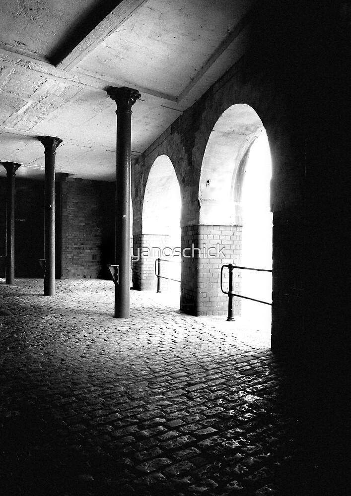 Space with pillars and dark corner by yanoschick