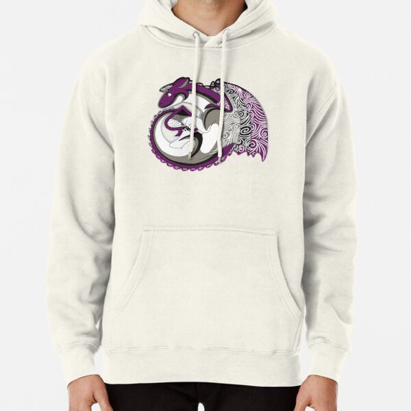 Asexual Pride Dragon Pullover Hoodie