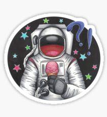 Ice Cream for an Astronaut Sticker