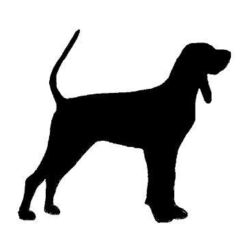 black and tan coonhound silhouette by marasdaughter