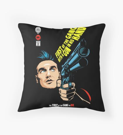 First of the Gang with a Gun in his Hand Throw Pillow