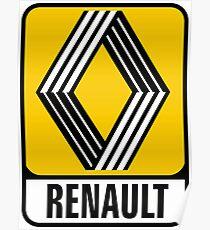 Renault Badge 1972 DISTRESSED Poster