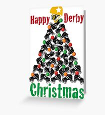 Happy Derby Christmas, Roller Derby Greeting Card