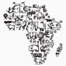 Abstract African Continent by Irfan Kokabi