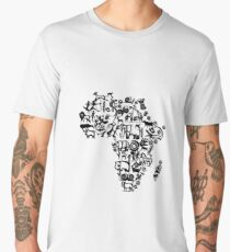 Abstract African Continent Men's Premium T-Shirt