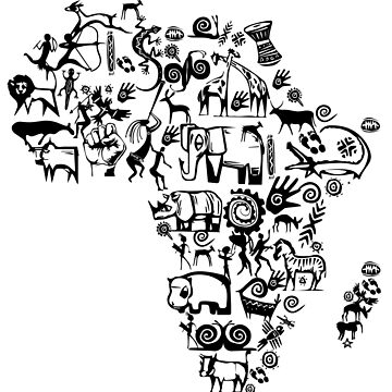Abstract African Continent by irfankokabi