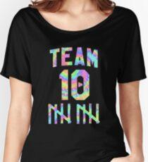 Jake Paul Tie Dye Team 10 (STICKER 2 PACK) Women's Relaxed Fit T-Shirt
