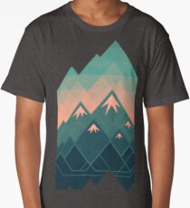 Geometric Mountains Long T-Shirt
