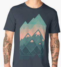 Geometric Mountains Men's Premium T-Shirt