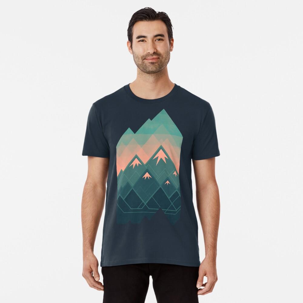 Geometric Mountains Premium T-Shirt
