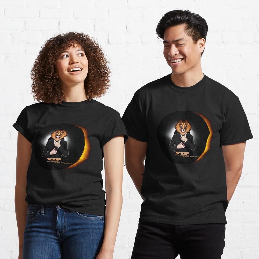 Solar Eclipse 2017 Sun Moon Leo Lion VIP Celebrity August 21 Classic T-Shirt