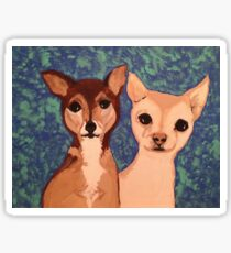 Two Chihuahua Friends Sticker
