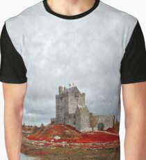 Dunguaire Castle - Blood Red Graphic T-Shirt