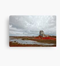 Dunguaire Castle - Blood Red Canvas Print