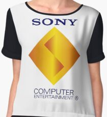 Retro Sony Computer Entertainment Playstation 1 PSX PS1 Women's Chiffon Top