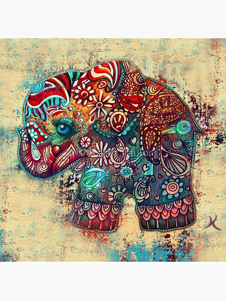 Vintage Elephant by karin