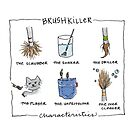 Art Humor - Brush Killer Characteristics by scratchmade