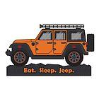 Orange Jeep Wrangler by BluAnchor