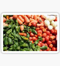 Peppers Tomatoes Carrots and Onions Sticker