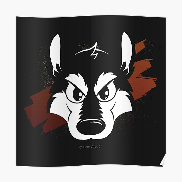 Toon wolf face Poster