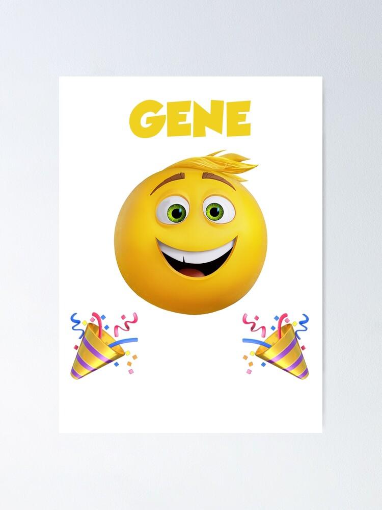 Poster Le Film Emoji Gene Meh Party Happy Kid Par Tagliobros Redbubble