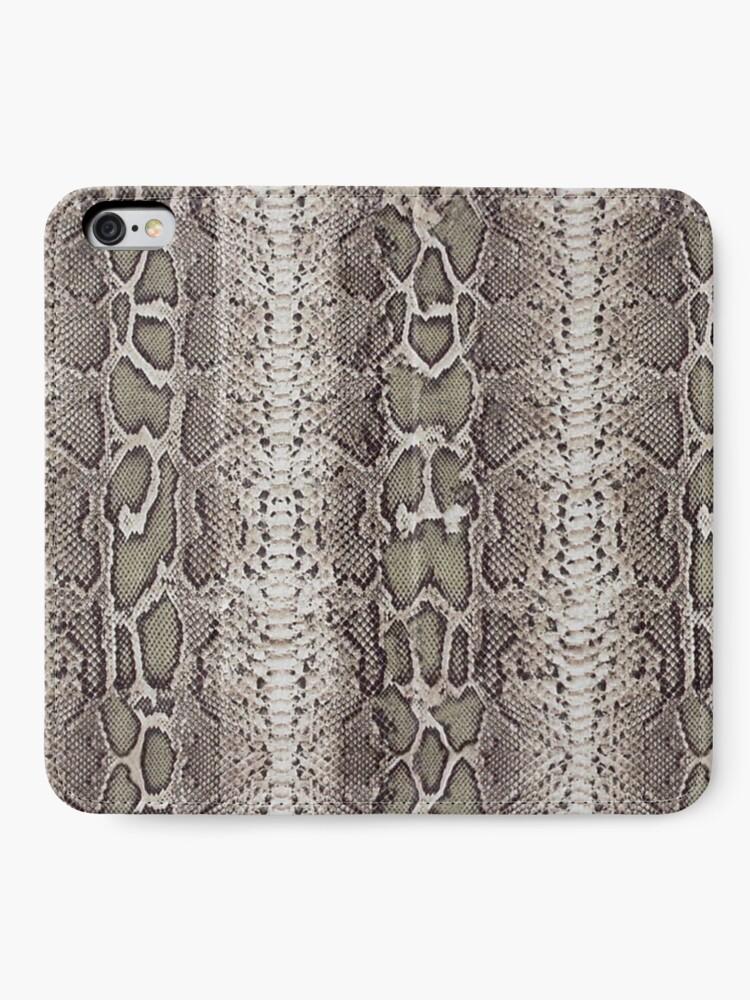 Alternative Ansicht von Schlangenhaut iPhone Flip-Case