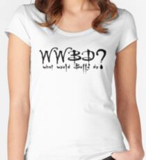 Buffy Women's Fitted Scoop T-Shirt
