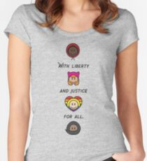 With Liberty and Justice for All Unity Women's Fitted Scoop T-Shirt