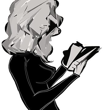 Woman reading by Rayones