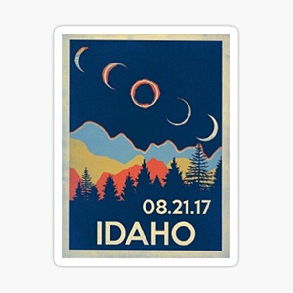 VINTAGE IDAHO SOLAR ECLIPSE 2017 SHIRT Sticker