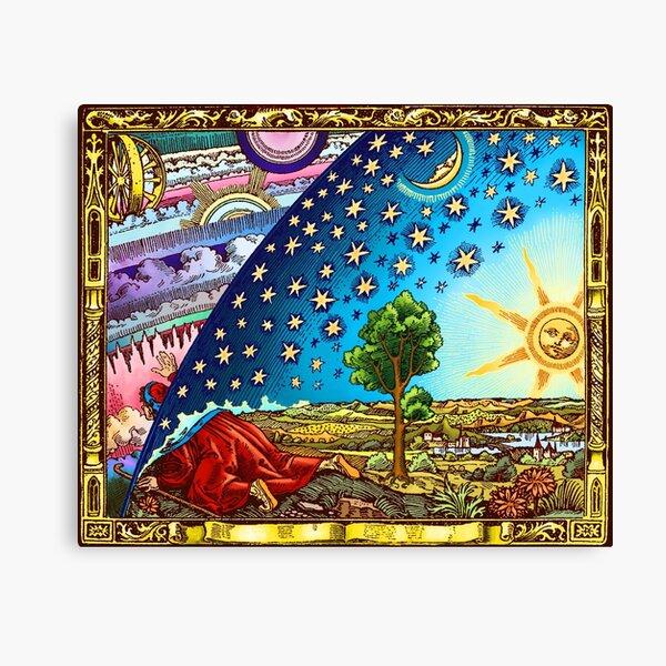 Flammarion Woodcut Flat Earth Design 2017 Canvas Print