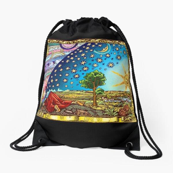Flammarion Woodcut Flat Earth Design 2017 Drawstring Bag
