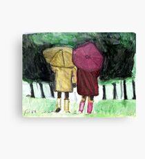 Two Umbrellas Canvas Print