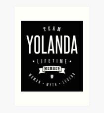 Team Yolanda Art Print