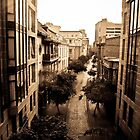 Cobblestone Street - Santiago, Chile by Amber Leigh Summers